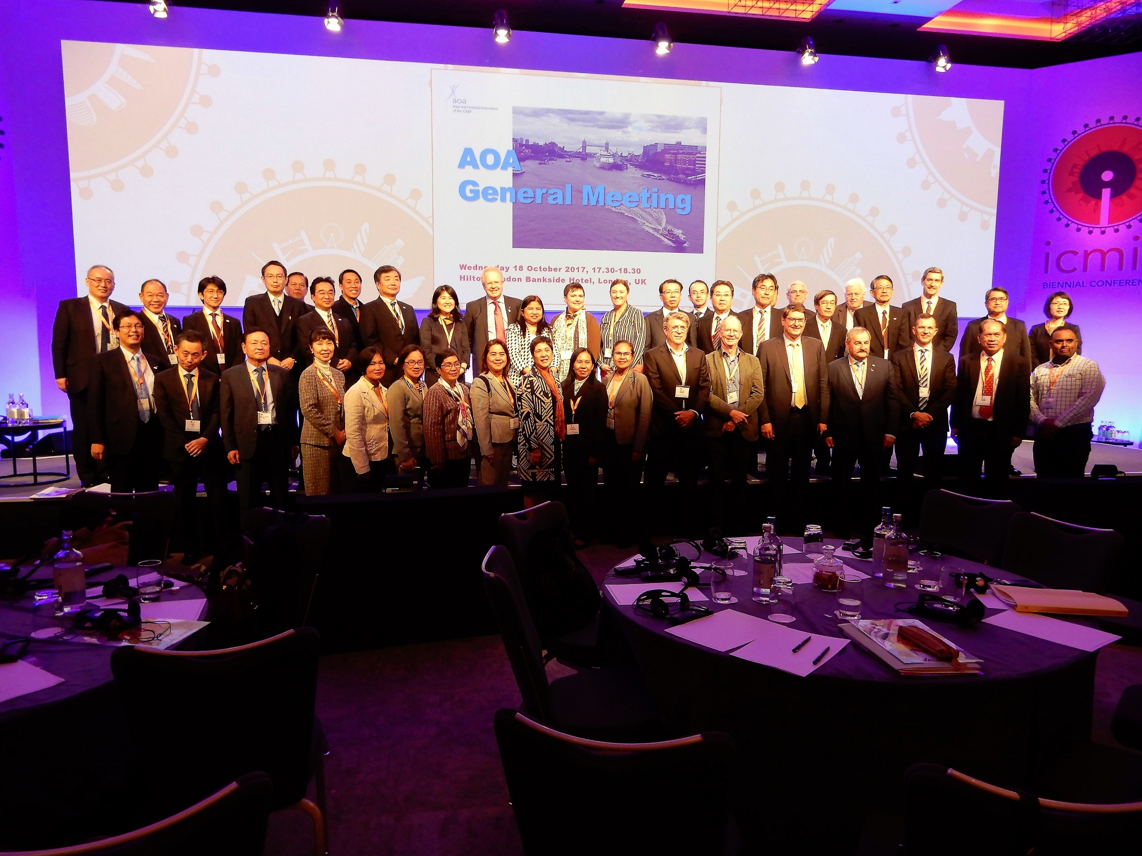 The delegates during the Asia Oceana Association (AOA) General Meeting and the AOA Board Directors Meeting last October 18, 2017 at ICMIF Biennal Conference, London, UK.
